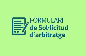 Formulari de Sol·licitud d'arbitratge